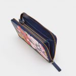 Joules French Navy Posy Canvas Purse 2