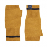 Joules Frosty Caramel Fingerless Gloves 1