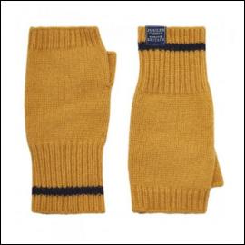 Joules Frosty Caramel Fingerless Gloves 1
