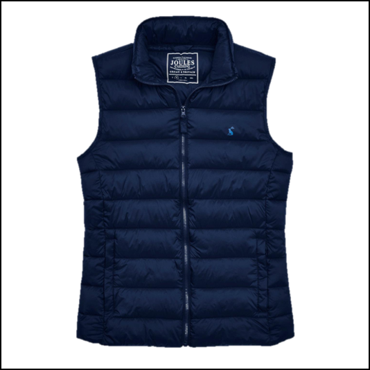 Joules Go To Marine Navy Lightweight Gilet 1