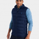 Joules Go To Marine Navy Lightweight Gilet 2