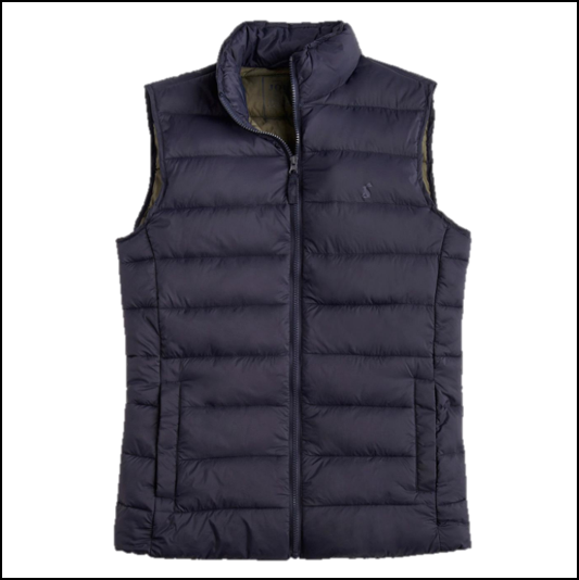 Joules Go To Marine Navy Padded Gilet 1