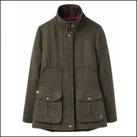 Joules Green Check Tweed Fieldcoat AW18 1