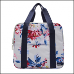 Joules Grey Whitstable Floral Picnic Cool Bag