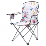 Joules Grey Whitstable Floral Pack Away Picnic Chair 1
