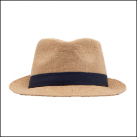 Joules Halstow Hessian Trilby Hat 1