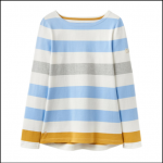 Joules Harbour Blue-Gold Bold Stripe Long Sleeve Jersey Top
