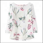 Joules Harbour Cream Botanicals Jersey Top 1