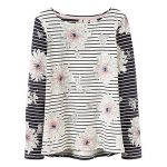 Joules Harbour Cream Peony Stripe Top 1