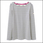 Joules Harbour Creme Stripe Jersey Top