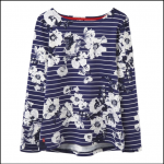 Joules Harbour French Navy Posy Stripe Jersey Top 1