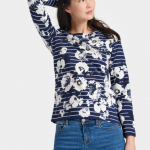 Joules Harbour French Navy Posy Stripe Jersey Top 2