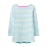 Joules Harbour Hope Stripe Cool Blue Jersey Top 1