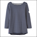 Joules Harbour Hope Stripe French Navy Jersey Top