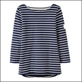 Joules Harbour Hope Stripe French Navy Jersey Top 1