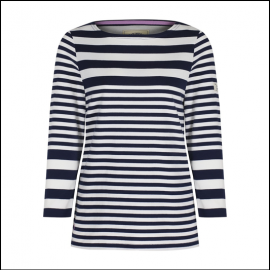 Joules Harbour Humbug Stripe Jersey Top 1