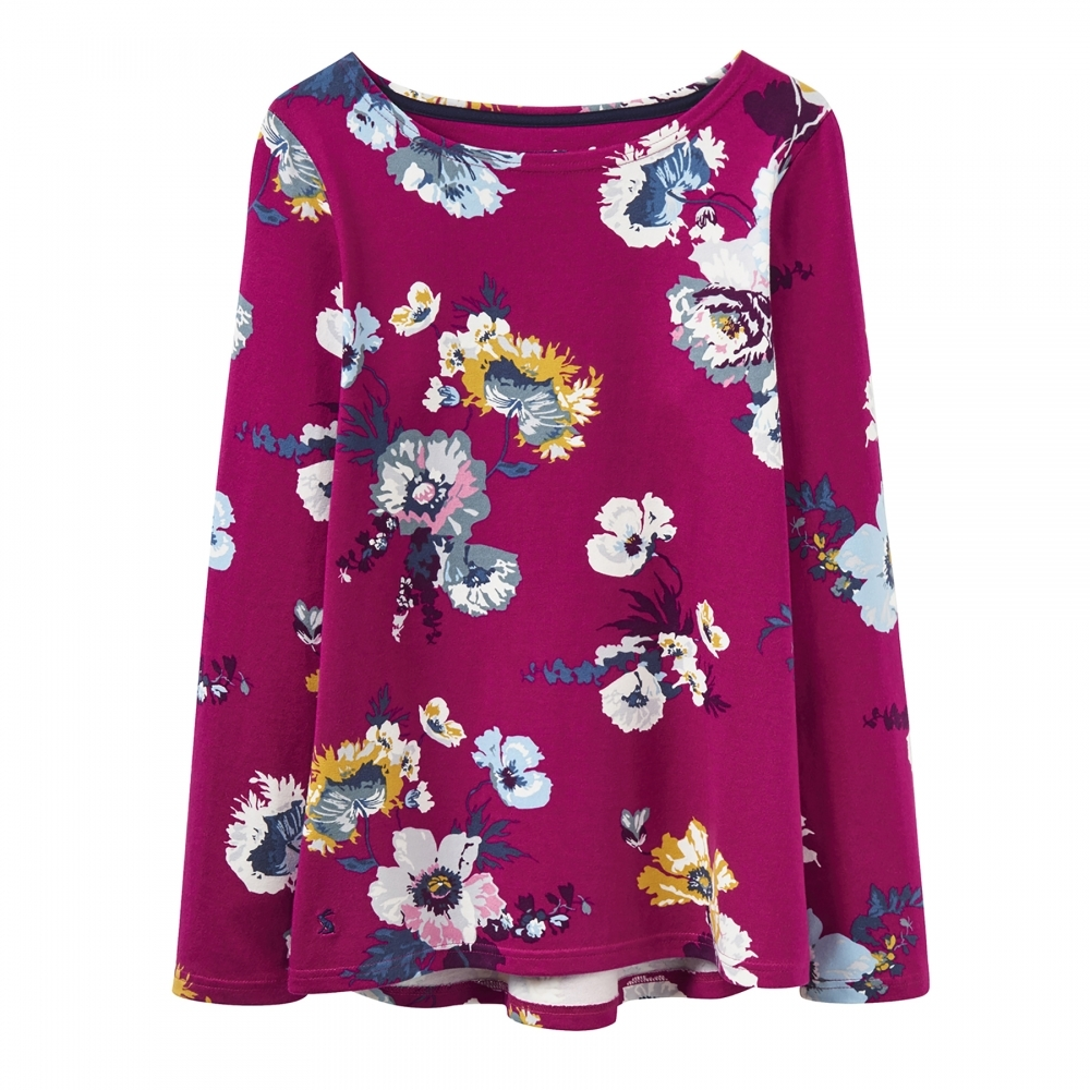 Joules Harbour Ruby Pink Posy Floral Top 1