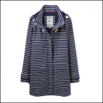 Joules Haven Amelie Navy Stripe Waterproof Jacket 1