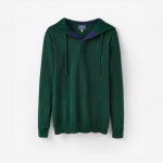 Joules Haywood Green Knitted Hooded Jumper