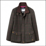 Joules Heather Check Tweed Fieldcoat
