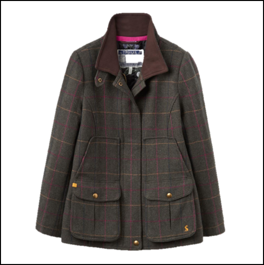 Joules Heather Check Tweed Field Coat 1