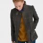Joules Heather Check Tweed Field Coat 3