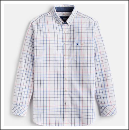 Joules Hewney Chalk Check Shirt 1