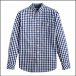 Joules Hewney Navy Gingham Shirt 1
