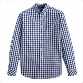 Joules Hewney Navy Gingham Shirt 1