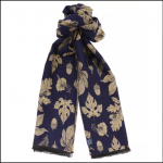 Joules Jacquelyn Navy Etched Botanicals Scarf