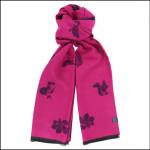 Joules Jacquelyn Ruby-Pink Etched Animals Scarf 1