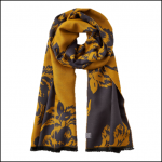 Joules Jacquelyn Winter Camelia Jacquard Scarf 1