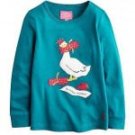 Joules Junior Ava Duck Dark Topaz Top