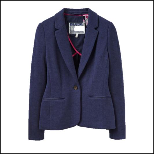 Joules Justine Navy Textured Blazer 1