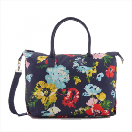 Joules Kembry French Navy Posy Weekend Bag 1