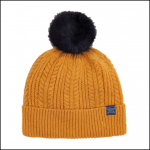 Joules Knitted Caramel Bobble Hat 1