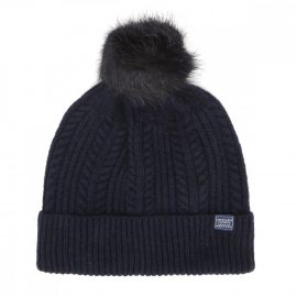 Joules Knitted French Navy Bobble Hat 1