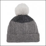 Joules Knitted Light Grey Bobble Hat 1