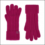 Joules Clark Knitted Ruby Pink Gloves