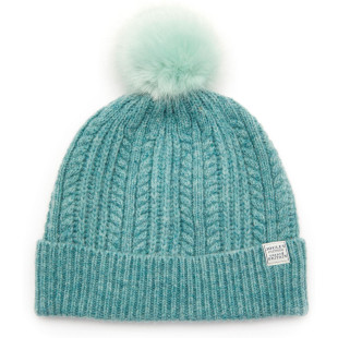 Joules Knitted Soft Teal Bobble Hat 1