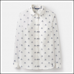 Joules Lucie Cream Love Bees Classic Print Shirt 1