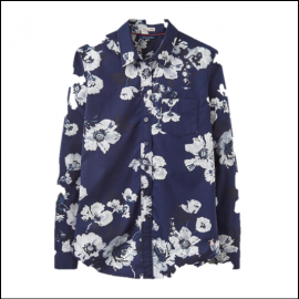 Joules Lucie French Navy Posy Shirt 1