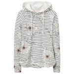 Joules Marlston Cream Peony Stripe Printed Hoodie