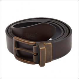 Joules Mens Black-Brown Reversible Leather Belt 1