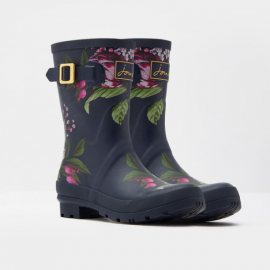 Joules Molly French Navy Artichoke Floral Wellies