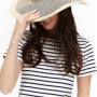 Joules Myla Natural Wide Brimmed Summer Hat 2
