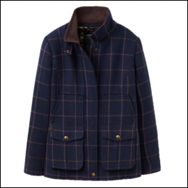 Joules Navy Check Tweed Fieldcoat 1