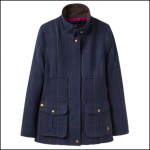 Joules Navy Check Tweed Fieldcoat