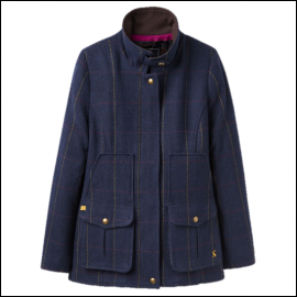 Joules Navy Check Tweed Fieldcoat 1 AW18