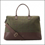 Joules Paddington Green Check Tweed Weekend Bag